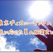 東京ディズニーランド 天気 服装