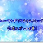ディズニーランドクリスマスパレード2015穴場スポット4選!
