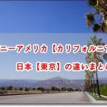 ディズニーアメリカ【カリフォルニア】と日本【東京】の違いまとめ