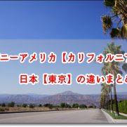 ディズニー カリフォルニア 東京 違い