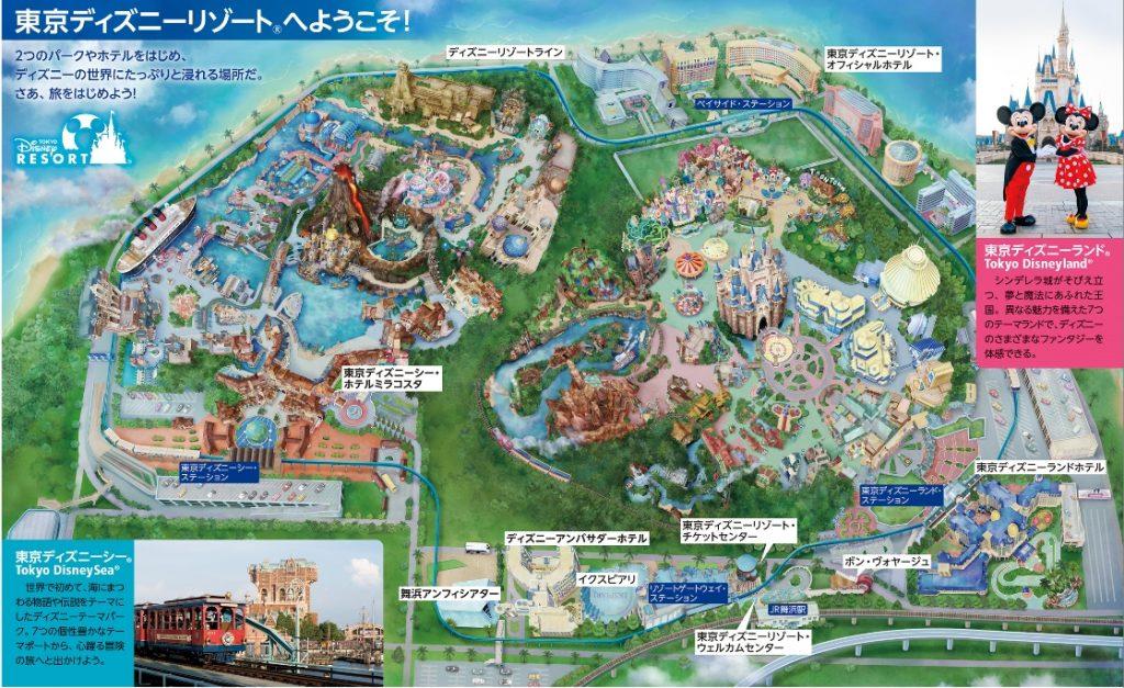 東京ディズニーリゾート完全ガイドmap