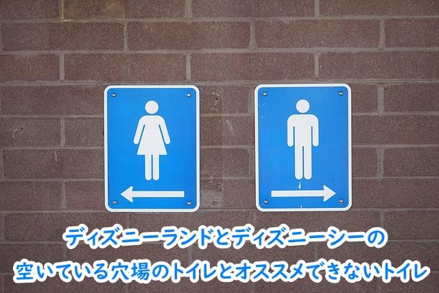 ディズニーランド ディズニーシー 穴場のトイレ