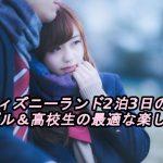 東京ディズニーランド2泊3日の予算とカップル&高校生の最適な楽しみ方