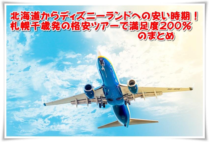 【北海道からディズニーランドへの安い時期!札幌千歳発の格安ツアーで満足度200%】まとめ