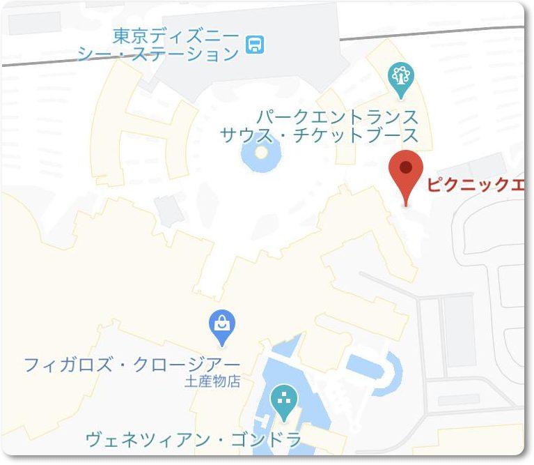 東京ディズニーシーピクニックエリアの場所2