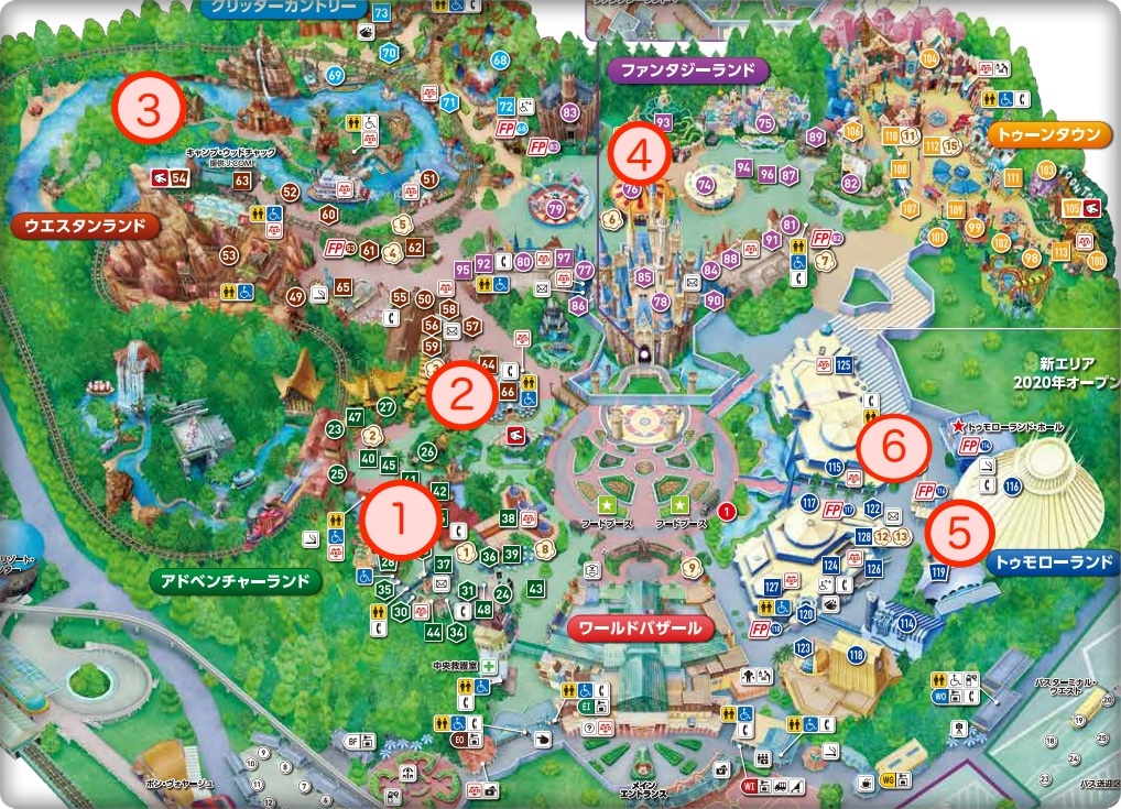 ディズニーランド自販機マップ