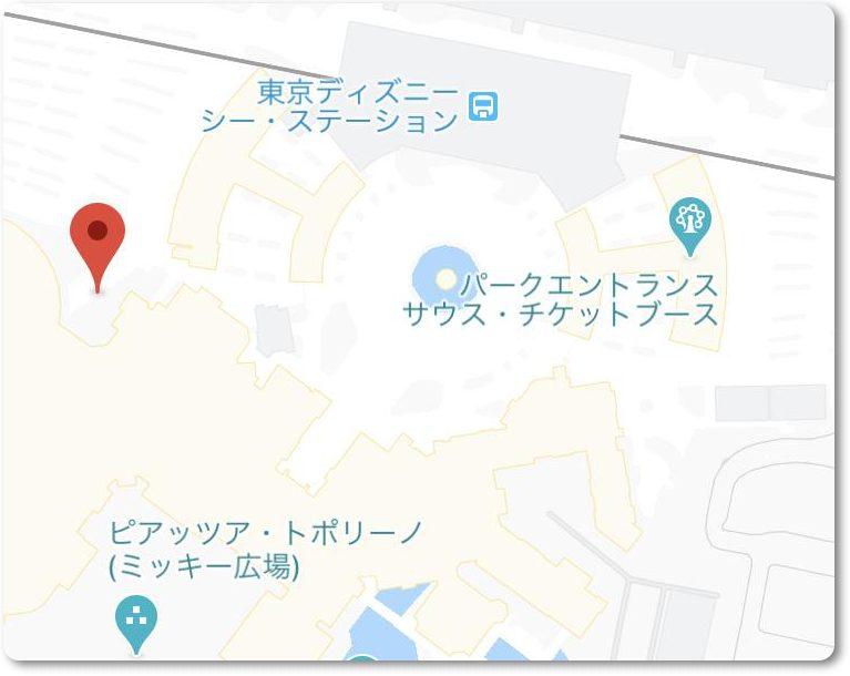 東京ディズニーシーピクニックエリアの場所